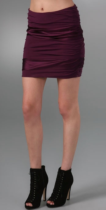 Alice + Olivia Ruched Miniskirt