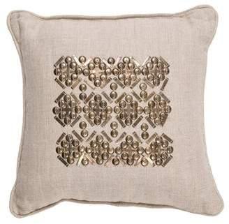 Ankasa Beaded Linen Throw Pillow