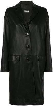 Beau Souci oversized leather coat