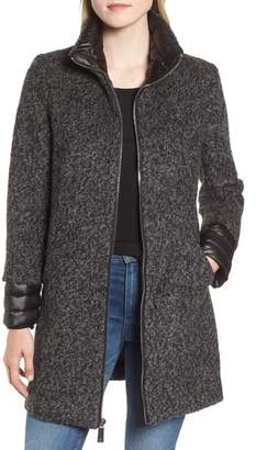 Kenneth Cole New York Layered Boucle Coat