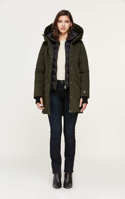 Soia & Kyo BELINA mid-length classic down coat with puffy bib