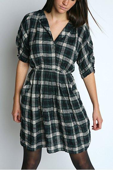 Charlotte Ronson Tartan Plaid Day Dress