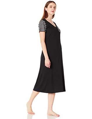 Selene Women's Short Sleeve Pajama Dress Pocket Casual Nightgown Sleepwear XL