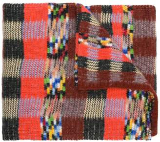 Missoni checked knit scarf