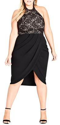 City Chic Lady Portia Halter Dress