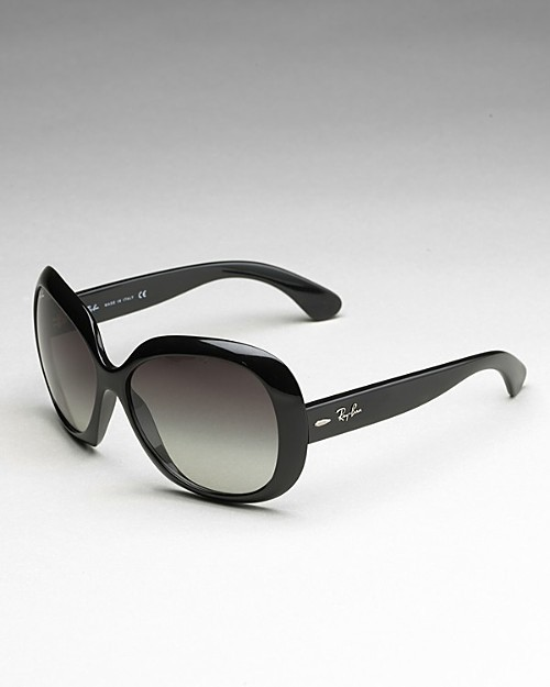 Ray-Ban Large Rounded Lens Logo Sunglasses