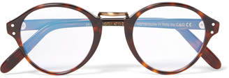 Cutler and Gross - Round-Frame Acetate and Burnished Gold-Tone Optical Glasses