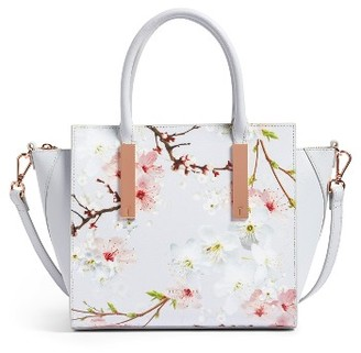 Ted Baker London Blossom Leather Tote - Grey $295 thestylecure.com