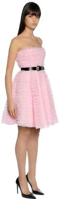 DSQUARED2 Ruffled Tulle Strapless Dress