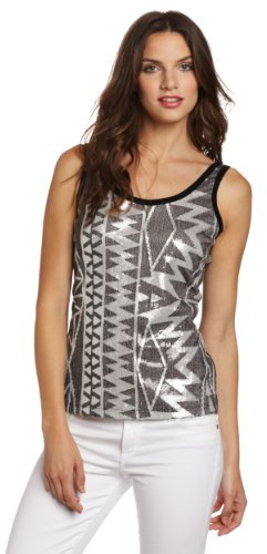 Karen Kane Women's Geometric Sequin Tank Top