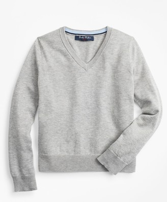 Brooks Brothers Boys Supima Cotton V-Neck Sweater