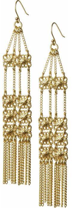 Floral fringe chandelier earring