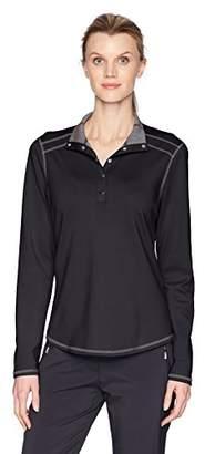 Cutter & Buck Women's 50+ UPF Stretch Evergreen Reversible Snap Placket Pullover