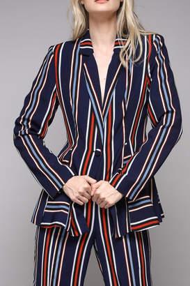 Do & Be Stripe Print Blazer