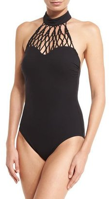 Gottex Black Diamond High-Neck One-Piece Swimsuit $328 thestylecure.com