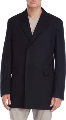 Jil Sander Dark Blue Hidden Button Coat