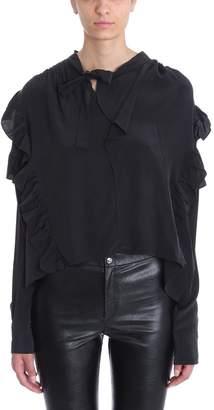 Isabel Marant Libel Black Silk Blouse