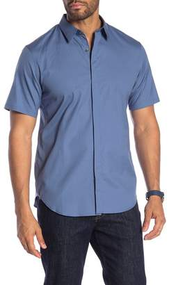 Theory Irving Poplin Short Sleeve Shirt