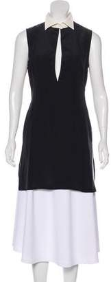Alexander McQueen Sleeveless Silk Tunic