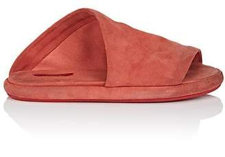 Marsèll Women's Suede Slide Sandals - Red