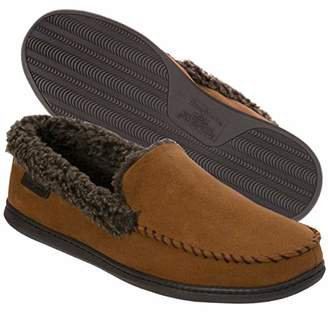 abb9d94cd99 Dearfoams Men s Microfiber Suede Closed Back Moccasin Style Slipper –  Padded Slip-Ons with Memory