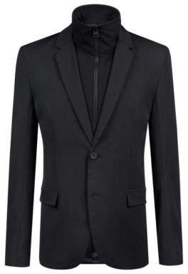 HUGO Boss Slim-fit jacket zippered insert 42R Black