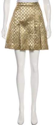 Gucci 2017 Godet-Pleated Mini Skirt