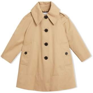 Burberry Detachable Hood Showerproof Cotton Swing Coat