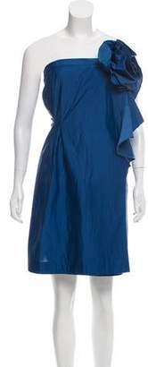 Marni Ruffle-Trimmed Strapless Dress