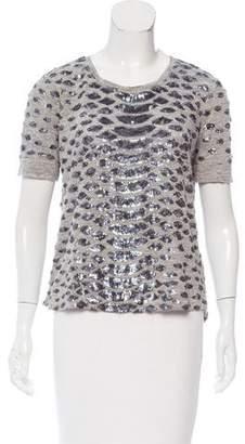 Rebecca Taylor Embellished Linen T-shirt