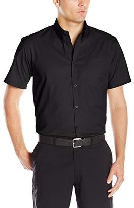 Clique Men's Short-Sleeve Carter Stain Resistant Twill Shirt