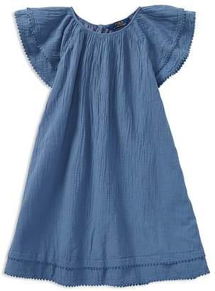 Polo Ralph Lauren Girls' Flutter-Sleeve Dress - Big Kid
