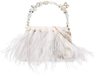 Rosantica Diana feather crystal-handle bag