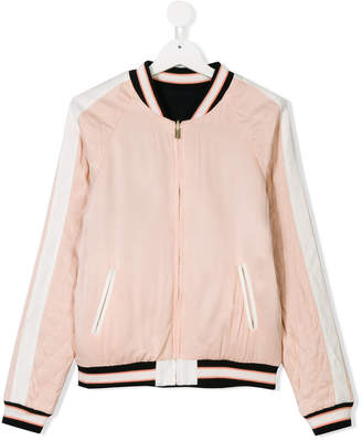 Chloé Kids TEEN striped bomber jacket