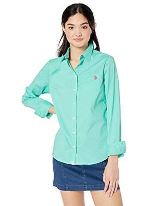 U.S. Polo Assn. Women's Long Sleeve Poplin Dress Shirt