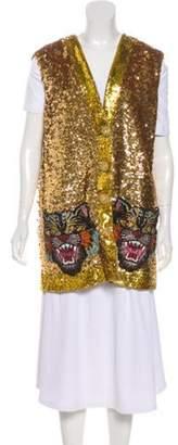 Gucci 2017 Sequin Vest Gold 2017 Sequin Vest