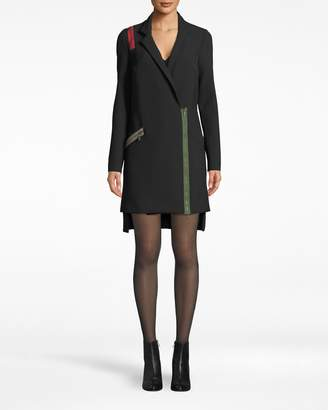 Nicole Miller Exposed Zippers Blazer Dress