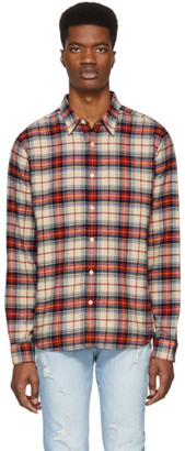 Frame Multicolor Plaid No Pocket Shirt