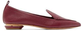 Nicholas Kirkwood Beya Point Toe Grained Leather Loafers - Womens - Burgundy