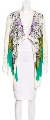Etro Silk-Paneled Wool Cardigan