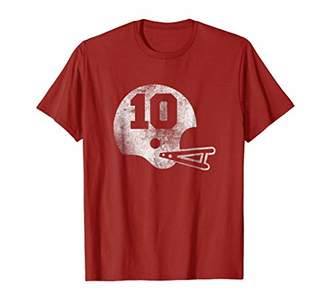 Vintage Football Jersey Number 10 T-Shirt Player Number