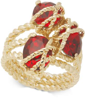 Charter Club Gold-Tone Three-Crystal Wrap Ring