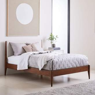 west elm Modern Show Wood Bed - Wheat (Twill)