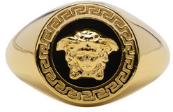 Versace Gold Large Medusa Ring $275 thestylecure.com