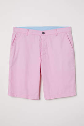 H&M Knee-length Cotton Shorts - Pink