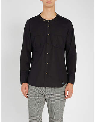 Vivienne Westwood Collarless regular-fit cotton shirt