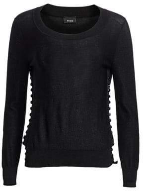 Akris Studded Lurex Silk Knit Pullover Sweater