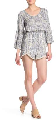 19 Cooper Patterned Bell Sleeve Romper