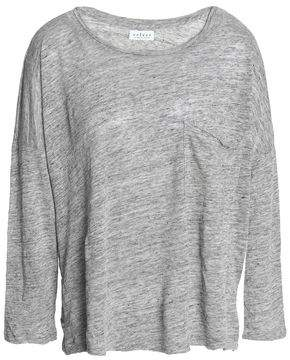 Velvet by Graham & Spencer Georgie Mélange Slub Linen-Jersey Top