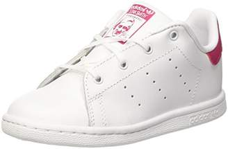 adidas Unisex Babies' Stan Smith I Gymnastics Shoes, FTWR White/Bold Pink